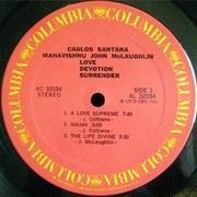 LP - Carlos Santana & Mahavishnu John McLaughlin - Love Devotion Surrender