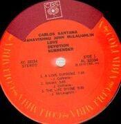 LP - Carlos Santana & Mahavishnu John McLaughlin - Love Devotion Surrender - Gatefold