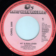 7inch Vinyl Single - Carol Jiani - Hit 'N Run Lover