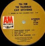 LP - Cat Stevens - Tea For The Tillerman - Label variation