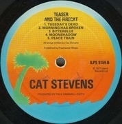 LP - Cat Stevens - Teaser And The Firecat - orange labels