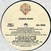 12inch Vinyl Single - Chaka Khan - Love You All My Lifetime