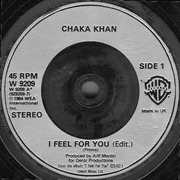 7inch Vinyl Single - Chaka Khan - I Feel For You - Silver Injection-Moulded Labels