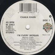 7inch Vinyl Single - Chaka Khan - I'm Every Woman (Remix)
