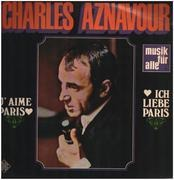 LP - Charles Aznavour - J'aime Paris Ich liebe Paris