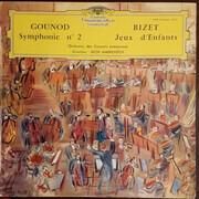 LP - Charles Gounod; Bizet (Markevitch) - Symphonie 2 / Jeux D'Enfants - Tulip rim / Mono / heavy vinyl