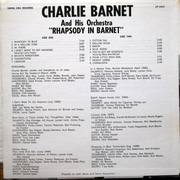 LP - Charlie Barnet And His Orchestra - Rhapsody In Barnet