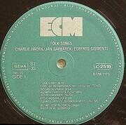 LP - Charlie Haden , Jan Garbarek , Egberto Gismonti - Folk Songs