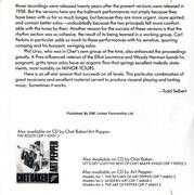 CD - Chet Baker & Art Pepper - Playboys