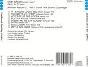 CD - Chet Baker & Paul Bley - Diane