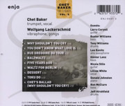CD - Chet Baker - The Legacy - Vol. 3 - Why Shouldn't You Cry - Signed digipak