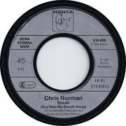 7inch Vinyl Single - Chris Norman - Sarah (You Take My Breath Away)