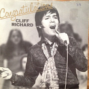 7inch Vinyl Single - Cliff Richard - Congratulations - Push-Out Centre