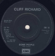 7inch Vinyl Single - Cliff Richard - Some People - Black paper labels, solid centre