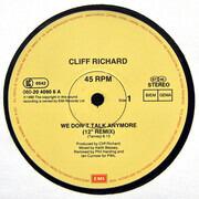 12inch Vinyl Single - Cliff Richard - We Don't Talk Anymore