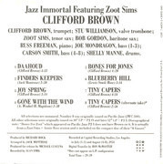 CD - Clifford Brown Featuring Zoot Sims - Jazz Immortal