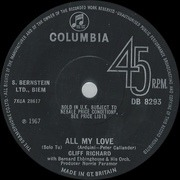 7inch Vinyl Single - Cliff Richard - All My Love