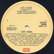 LP - Cliff Richard - Love Songs
