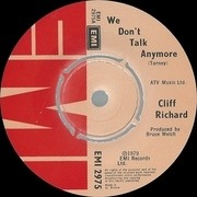 7inch Vinyl Single - Cliff Richard - We Don't Talk Anymore - Picture sleeve