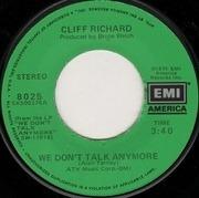 7inch Vinyl Single - Cliff Richard - We Don't Talk Anymore
