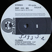 12inch Vinyl Single - Closed - Living In Your Eyes