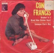 7inch Vinyl Single - Connie Francis - Breakin' In A Brand New Broken Heart - PS. US Promo