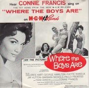 7inch Vinyl Single - Connie Francis - Where The Boys Are - Original US. Picture Sleeve