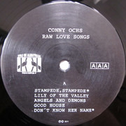 LP - Conny Ochs - Raw Love Songs - White Cover