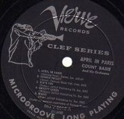LP - Count Basie Orchestra - April In Paris - Trumpeter Labels Clef series