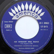7inch Vinyl Single - Creedence Clearwater Revival - Run Through The Jungle / Up Around The Bend