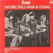 7inch Vinyl Single - Crosby, Stills, Nash & Young - Live! - Original Australian EP