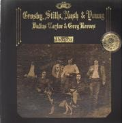 LP - Crosby, Stills, Nash & Young - Déjà Vu - embossed cover