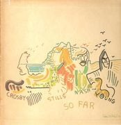 LP - Crosby, Stills, Nash & Young - So Far - textured, embossed