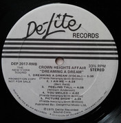 LP - Crown Heights Affair - Dreaming A Dream - Promo record with standard cover
