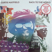 LP - Curtis Mayfield - Back To The World - still sealed, ltd. red vinyl, gatefold