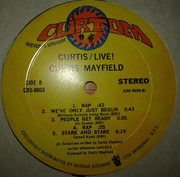 Double LP - Curtis Mayfield - Curtis / Live! - Gatefold