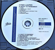 CD - Cyndi Lauper - A Night To Remember