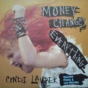 7inch Vinyl Single - Cyndi Lauper - Money Changes Everything