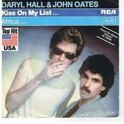 7'' - Daryl Hall & John Oates - Kiss On My List