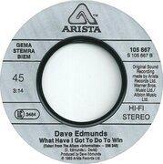 7'' - Dave Edmunds - Information