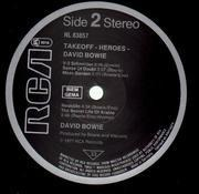 LP - David Bowie - Heroes - BLACK LABELS