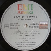 LP - David Bowie - Let's Dance - France