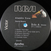 LP - David Bowie - Aladdin Sane - Indianapolis  Pressing