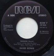 7inch Vinyl Single - David Bowie - Fashion - Wide Spindle