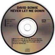 CD - David Bowie - Never Let Me Down