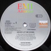 LP - David Bowie - Never Let Me Down - CLUB EDITION