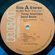 LP - David Bowie - Young Americans - Greece