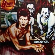 LP - David Bowie - Diamond Dogs - tan labels
