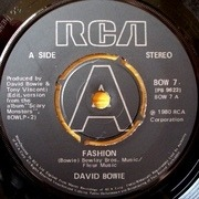 7'' - David Bowie - Fashion - Push-out centre