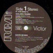LP - David Bowie - Golden Years - remastered